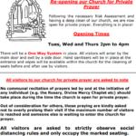 Church open for Personal Prayer